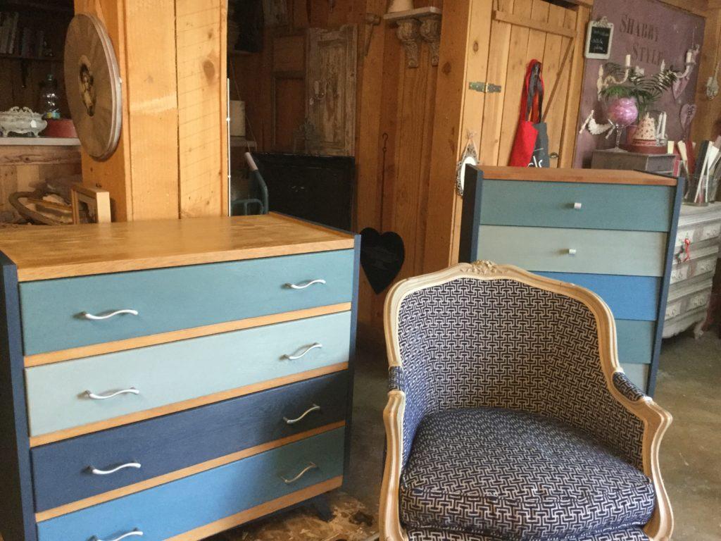 Couleur Taupe Et Bleu Canard moka taupe gris patiné relooké meuble patiné   rose le gac